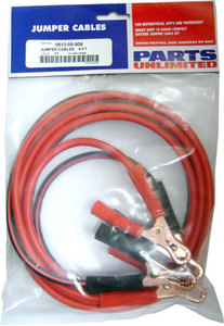 Jumper cables made specifically for motorcycle and powersports use.