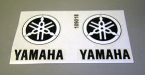 "YAMAHA logo vinyl decal 2.5""x2.5"". Black"