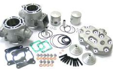 Athena Big Bore Kit - RZ350/Banshee. Kit inlcudes: 2 aluminum 68mm cylinders with nickle carbide (nikasil)coating with large water jackets