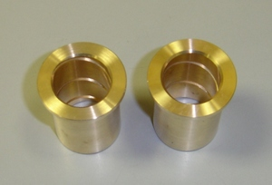 Bronze Swingarm Bushings for Yamaha RD250/350/400/R5/DS6/7. High quality bronze bushings by Parts Plus. These replace the nylon stock bushingsand provide less flex and better handling.