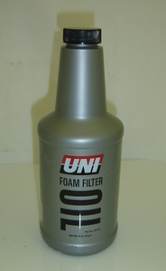 Uni Foam Filter Oil - 16oz Pour Bottle. Foam filter oil allows maximum airflow while keeping dirt and dust particles out