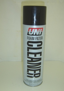 Uni Foam Filter Cleaner in 14.5oz Aerosol can. CleanerÍs powerful agents quickly strip away grease and dirt