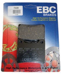 EBC Brake Padsfor Yamaha RZ350 (all years)- Rear pads. High quality EBCpads feature asbestos free Kevlar& graphite compounds for superior performance. The world's #1 selling organic disc brake pads made with DuPont® Kevlar® provide excellent stopping power without noise and rotor galling even on polished rotors. Fingertip control and strong predictable brake response