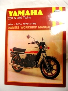 Haynes Yamaha 250/350 2 Stroke Twins Manual - Comprehensive shop manual covers all aspects of service and repair including engine rebuild.