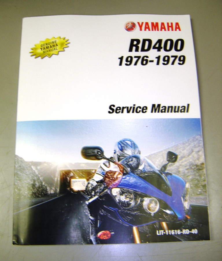 Yamaha RD400 Factory Service Manual (RD400C/D/E/F) Includes RD400F Daytona  Supplement