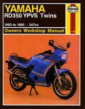 Haynes Yamaha RZ350/RD350YPVS Manual - Comprehensive shop manual covers all aspects of service and repair including engine rebuild.