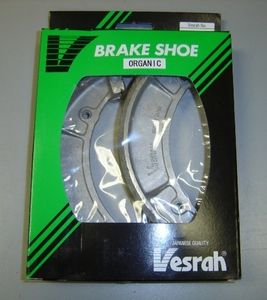 Vesrah Rear Brake Shoes for RD350/RD250 (all years). High quality brake shoe makes excellent OEM replacement.