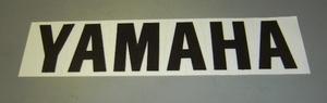 "YAMAHA logo vinyl decal 6.5""x1.5"". Black"
