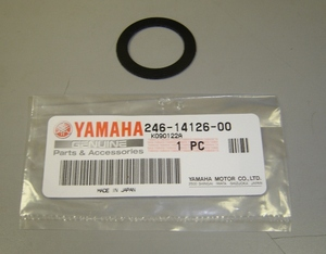 VM26-28 Carb Top Gaskets Sold Each. Suitable for RD250/350/400 & others with VM26 or VM28 carburetors. Genuine Yamaha Part.