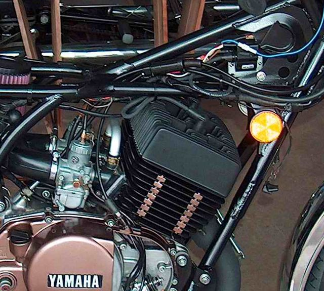 yamaha rd rd cdi ignition powerdynamo economy cycle engine coilmount