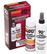 A six-step maintenance system designed to recharge any K&N AirFilter. Completely restores air Flow efficiency so your Air Filter performs like new. Includes: 6 1/2oz. Spray Oil