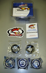 Rear Wheel Bearing Kit -  RD250/RD350/R5/DS6/DS7 (all years) by All Balls. Kit includes wheel bearings and seals for rear wheel. Note:sample kit pictured