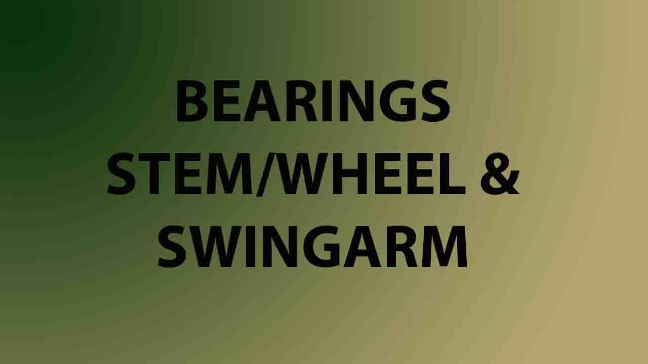Bearings (Stem/Wheel/Swingarm)