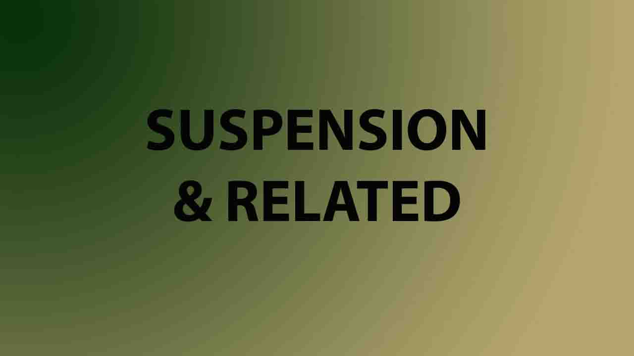 Suspension and Related