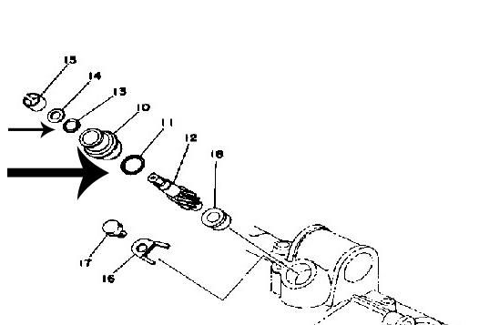 Yamaha Tachometer Drive Seal Kit RD350, RD400, RD250, R5, DS7